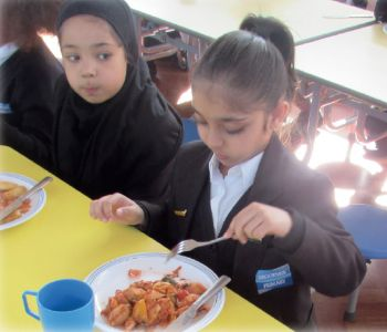 Reception Children - First Lunch