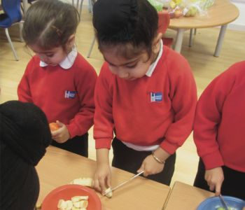 Making Fruit Kebabs - Little Acorns