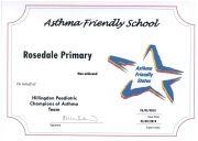 RPS Asthma Friendly School 2018