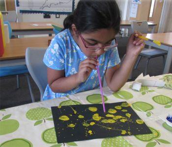 Blow Paint Germ Art