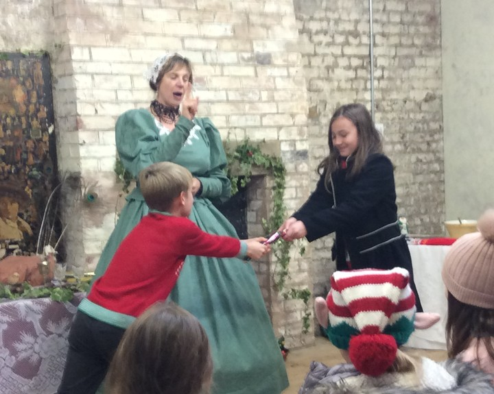 Children experience Victorian Christmas