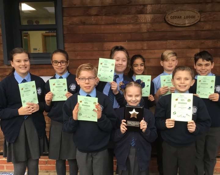 100% attendance for pupils