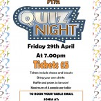 PTFA Quiz night April 29Th