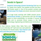 Seeds in Space!