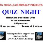 Chess club proudly presents quiz night