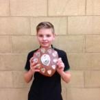 Junior badminton winner