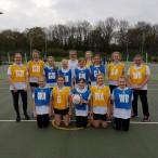 U12 & U13 netball teams representing STS at Kent School Netball Festival