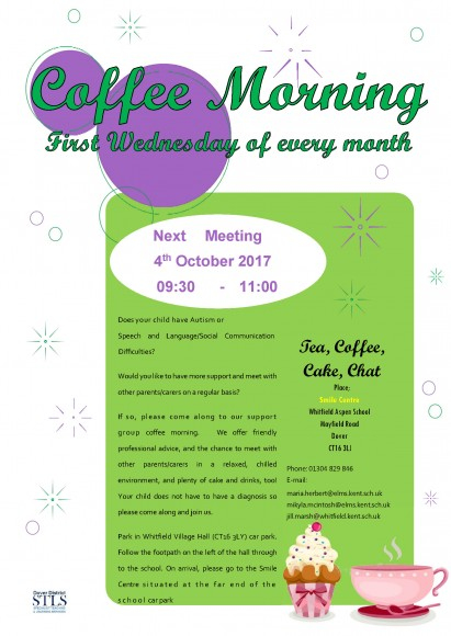 coffee morning flyer 4th October 2017