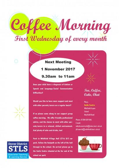 coffee morning flyer 1 Nov 2017