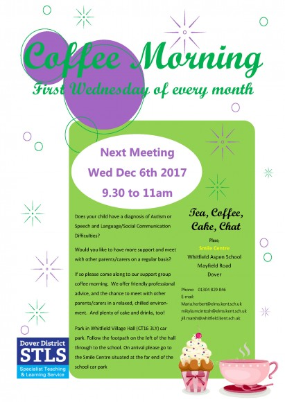 coffee morning flyer 6th Dec 2017