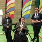 Two teams from Sandwich Technology School competed in the Kent Schools Boccia Final at the University of Kent o