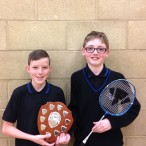 Junior badminton winners