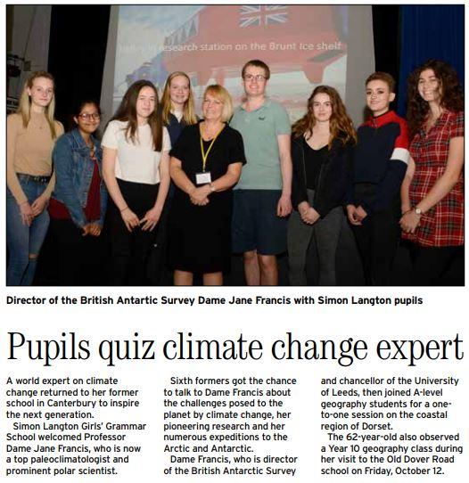 Dame Jane Newspaper article