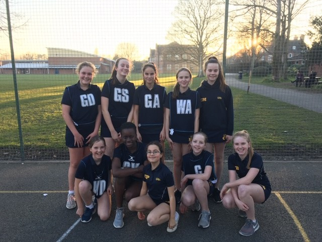 year 7 netball team feb 19