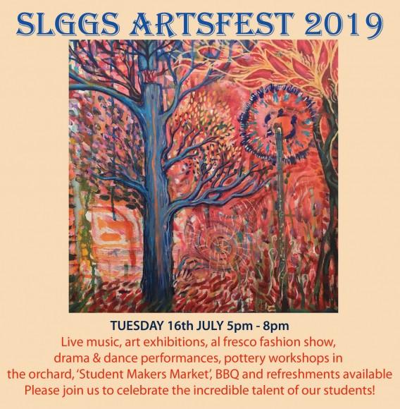 flyer for artsfest