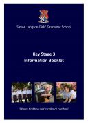 cover KS3 Information Booklet