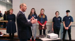 A Royal Duke of Edinburgh's Award visit for SLGGS