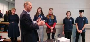 A Royal Duke of Edinburgh's Award visit for SLGGS