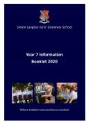 cover Yr 7 Info Booklet 2020