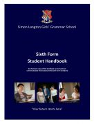 cover Amended 2020 Sixth cover 2020 handbookForm Student Handbook inc survival guide