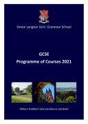 GCSE PROG OF COURSES BOOKLET 2021
