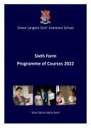Sixth Form Programme of Courses Booklet 2022 1