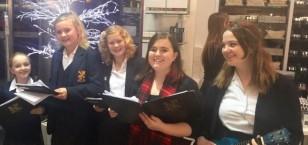 Carol Singing at Fenwick's Christmas Daily Telegraph Evening