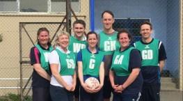 Staff v Sixth Form Netball Match