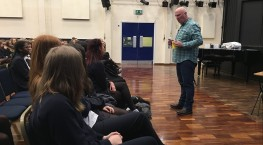 Andrew Watson gives talk to students