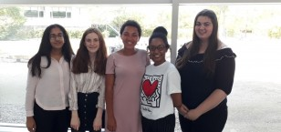 Sixth Form students present at KM Bright Spark Awards ceremony