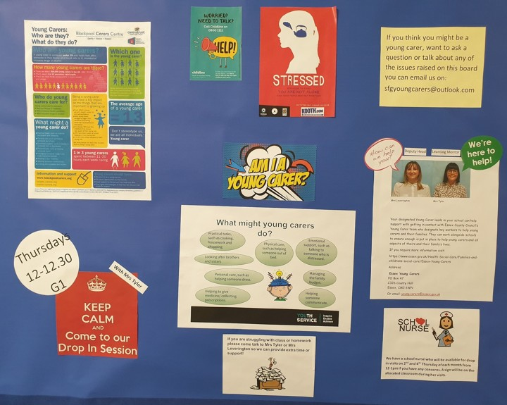 Young carers identified at school