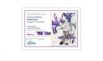 GCSE Exhibition 2016