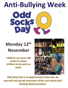 Odd Socks Day - part of Anti-Bullying Week