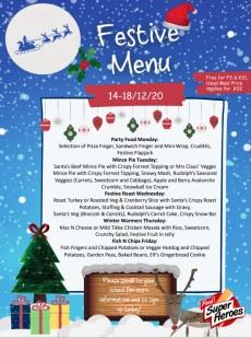 Festive Week menu