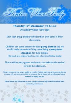 Winter Class Parties - 17th December 2020