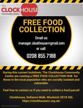 Clock house free food