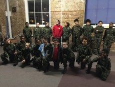 Challenger troop celebration