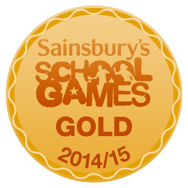 GOLD school games logo