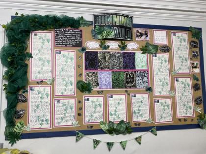 Displays of work around School...