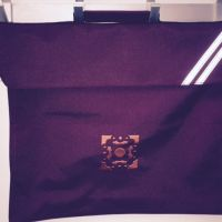 maroon school bag